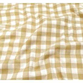 tissu vichy 18mm beige largeur 140cm x 50cm