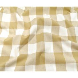 tissu vichy 38mm beige largeur 140cm x 50cm