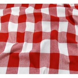 tissu vichy 38mm rouge largeur 140cm x 50cm
