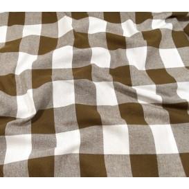 tissu vichy 38mm marron largeur 140cm x 50cm