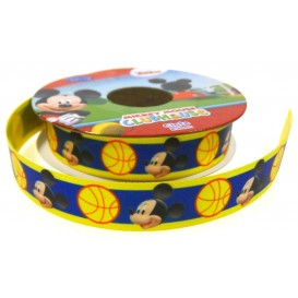 coupon 3m ruban satin disney mickey 15mm