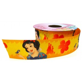 coupon 3m ruban satin disney blanche neige 25mm