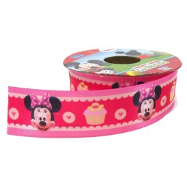 ruban satin disney minnie 25mm x 50cm