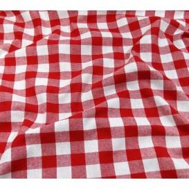 tissu vichy 18mm rouge largeur 140cm x 50cm