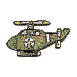 écusson hélicoptère de l'armée thermocollant