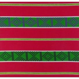 tissu africain wax fuchsia frises largeur 113cm x 50cm