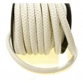 cordon simili cuir tressé 10mm x 50cm