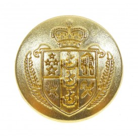 bouton métal blason or 18mm