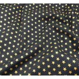 tissu noël marine étoiles doré 9mm largeur 150cm x 50cm
