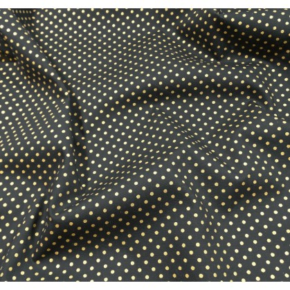 tissu no l marine pois dor 2mm largeur 150cm x 50cm. Black Bedroom Furniture Sets. Home Design Ideas