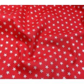 tissu noël rouge étoiles argenté 9mm largeur 150cm x 50cm