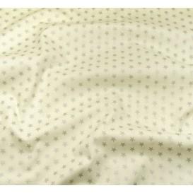 tissu noël écru étoiles argenté 9mm largeur 150cm x 50cm