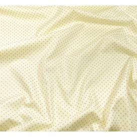 tissu noël écru pois doré 2mm largeur 150cm x 50cm