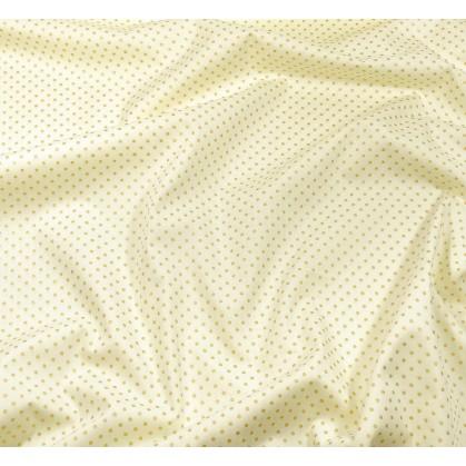 tissu no l cru pois dor 2mm largeur 150cm x 50cm. Black Bedroom Furniture Sets. Home Design Ideas
