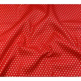 tissu noël rouge étoiles doré 3mm largeur 150cm x 50cm