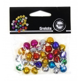 30 grelots couleurs assorties 1cm