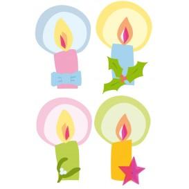 8 formes plates bougies en bois