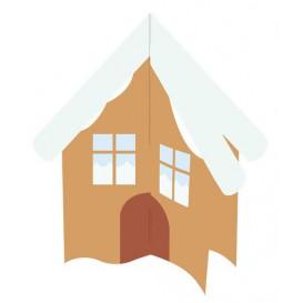 maison à customiser avec gommettes 24x20cm