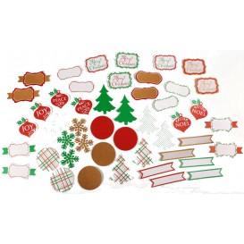 48 étiquettes cadeaux 6 à 10cm