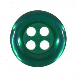 bouton 4 trous rond rouge nacré 11mm