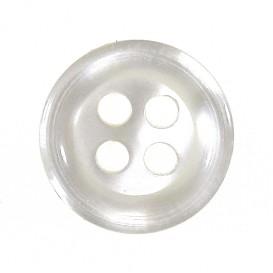 bouton 4 trous rond blanc nacré 11mm