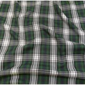 tissu écossais vert/blanc largeur 140cm x 50cm