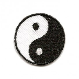 écusson yin yang thermocollant
