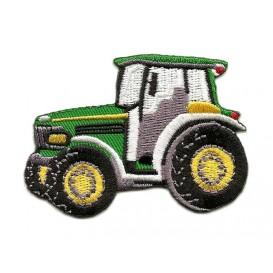 écusson tracteur vert et jaune thermocollant