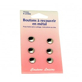 BOUTONS A RECOUVRIE METAL