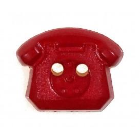 bouton enfant téléphone rouge