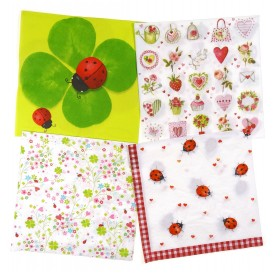 lot de 12 serviettes papier jardin