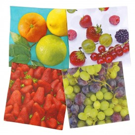 lot de 12 serviettes papier fruits