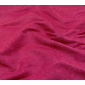 tissu suédine fuschia largeur 150cm x 50cm