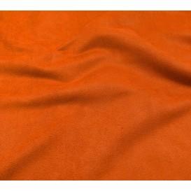 tissu suédine orange largeur 150cm x 50cm