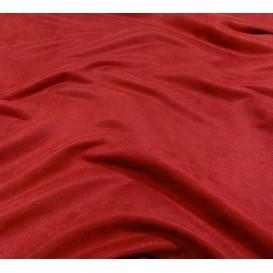 tissu suédine rouge foncé largeur 150cm x 50cm
