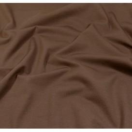 tissu jersey marron foncé largeur 160cm x 50cm