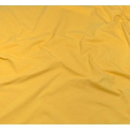 tissu jersey jaune ocre largeur 160cm x 50cm