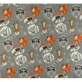 tissu jersey gris renards largeur 150cm x 50cm