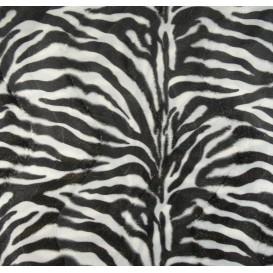 tissu peau de bête zèbre largeur 150cm x 50cm