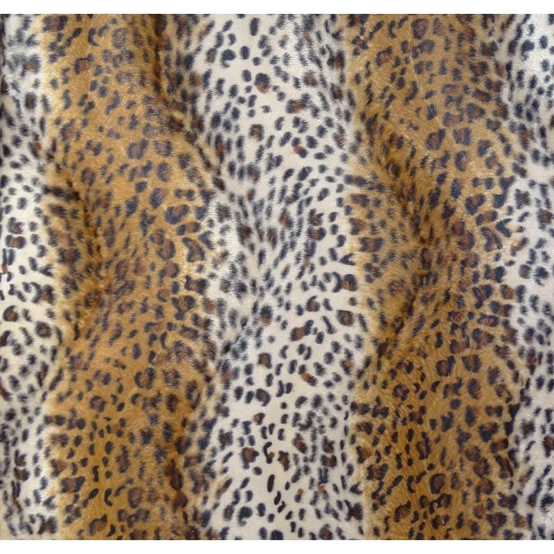 tissu peau de b te l opard marron largeur 150cm x 50cm. Black Bedroom Furniture Sets. Home Design Ideas