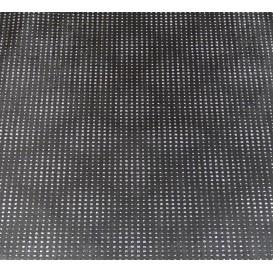 tissu simili cuir diamond stone noir largeur 138cm x 50cm