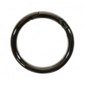 anneau mousqueton métal 30mm