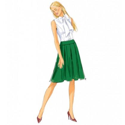 patron jupe semi-ajustée Butterick B6102