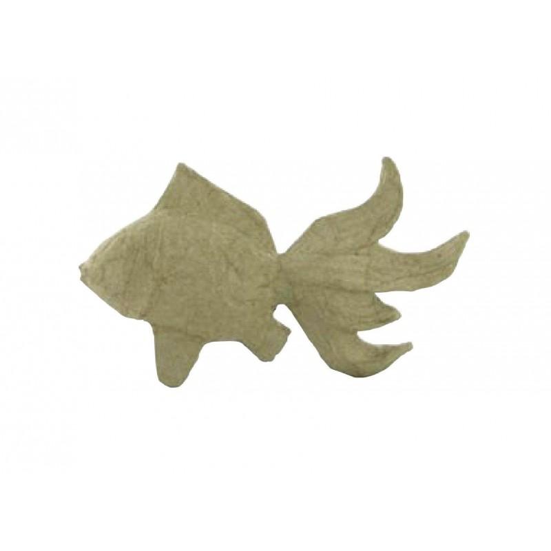 poisson en papier mach 8x14cm d corer. Black Bedroom Furniture Sets. Home Design Ideas