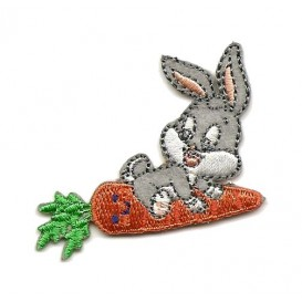 écusson baby bugs bunny carotte thermocollant