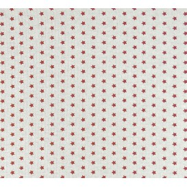 tissu aspect lin étoile rouge 6mm largeur 150cm x 50cm