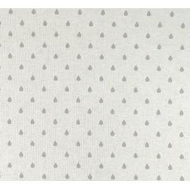 tissu aspect lin goutte grise 8mm largeur 150cm x 50cm