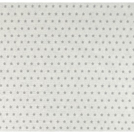 tissu aspect lin étoile grise 6mm largeur 150cm x 50cm