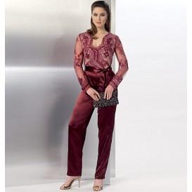 patron combinaison et ceinture Vogue V9160