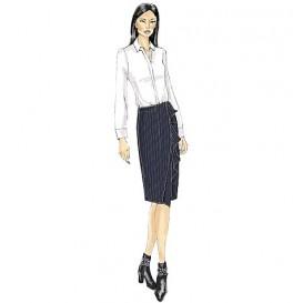 patron jupe semi-ajustée Vogue V9172